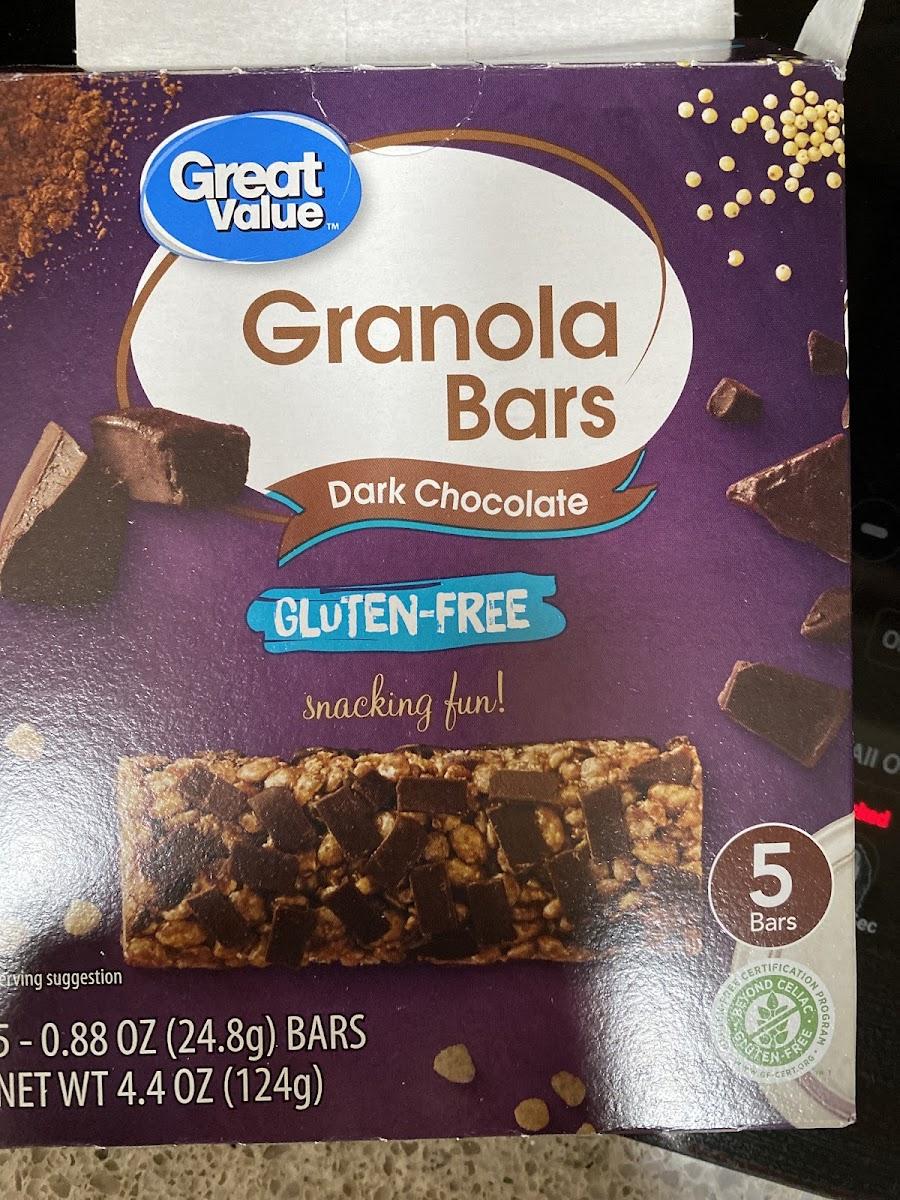Granola Bars, Dark Chocolate GF