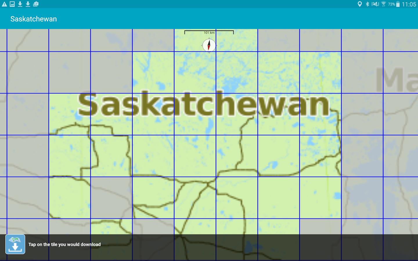 Aqua Map Saskatchewan Lakes- screenshot