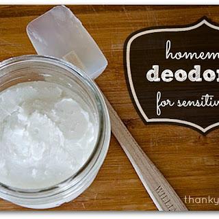 Homemade Deodorant for Sensitive Skin.