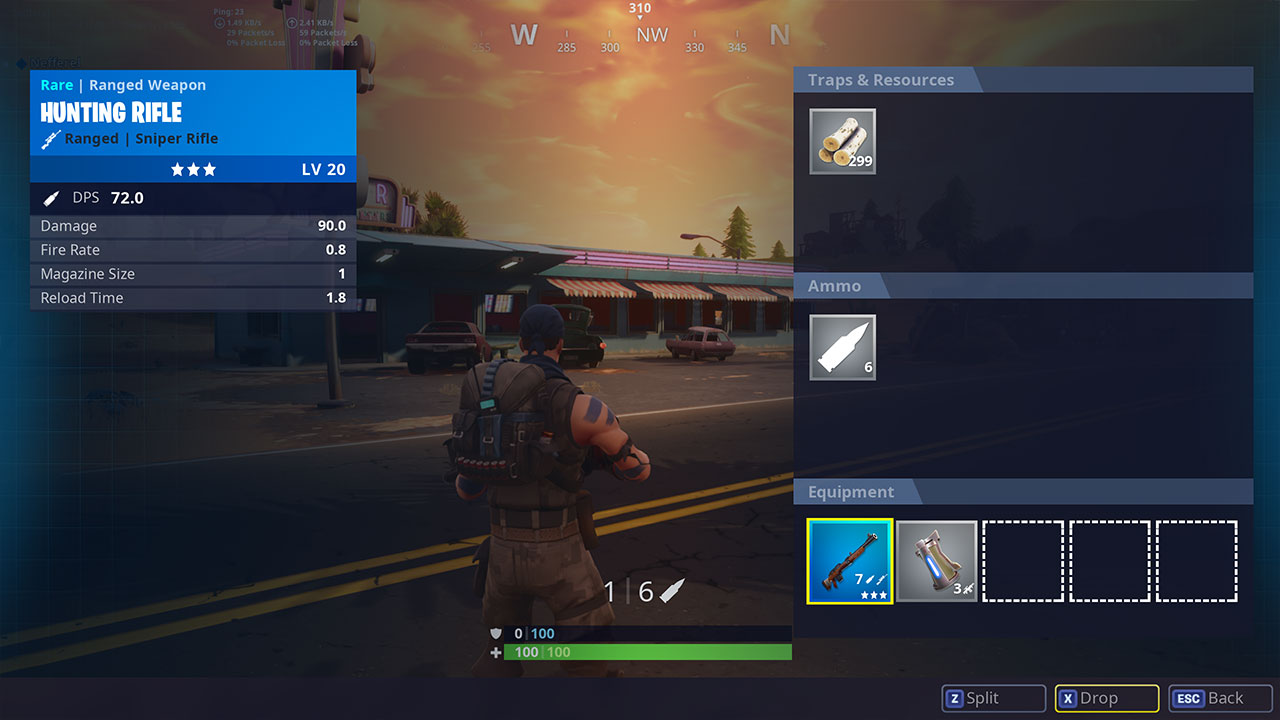 How to drop items in Fortnite on PC