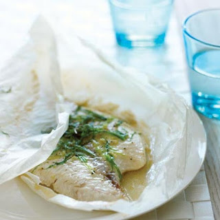 Green Onion and Sesame Parchment-Baked Petrale Sole.
