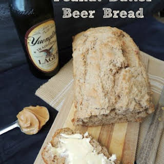 Homemade Peanut Butter Beer Bread.