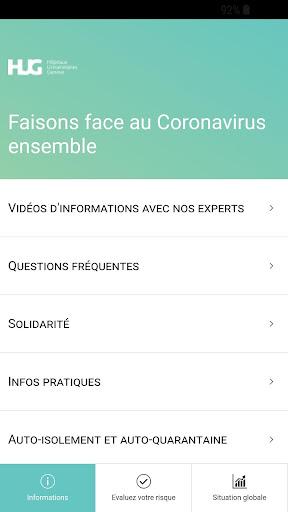 Coronapp-HUG screenshot 1