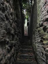 Photo: de trappensteegjes van het terras