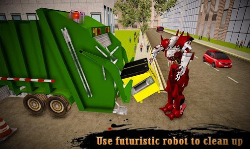 Real Robot Transformation Garbage Truck Driving 3D 1