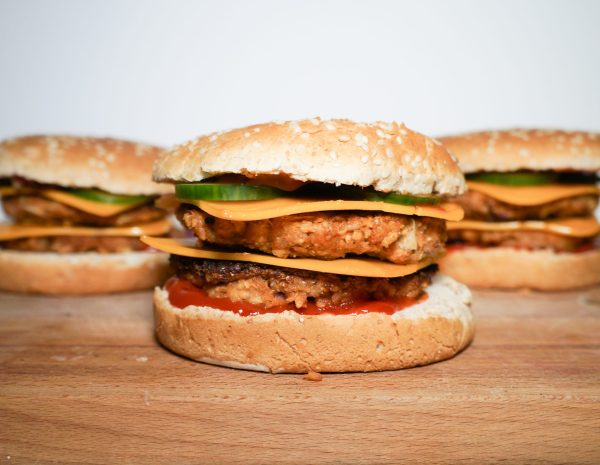 Quick and Easy Vegan Double Cheese Burgers Recipe