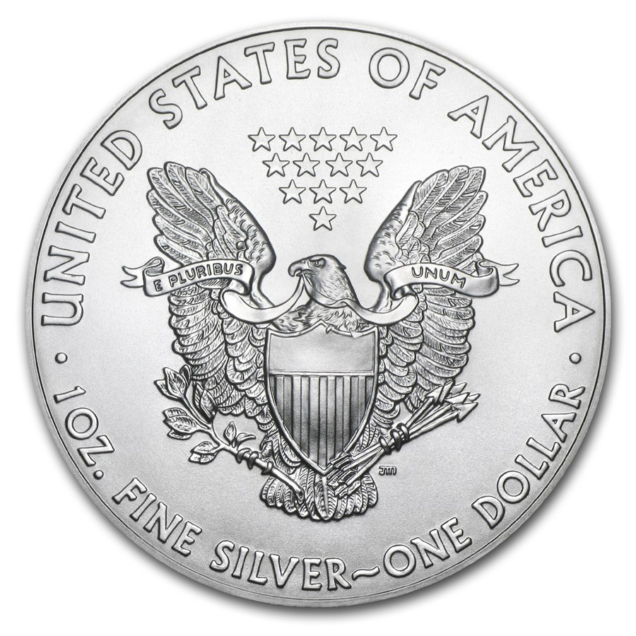 Back of US silver eagle