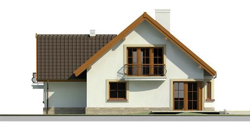 Dom przy Cyprysowej 11 - Elewacja tylna