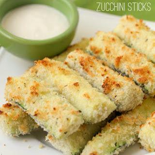 Baked Crusted Zucchini Sticks