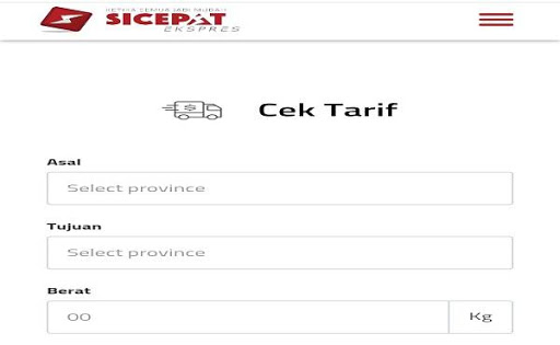 Cek Ongkir SiCepat screenshot 1