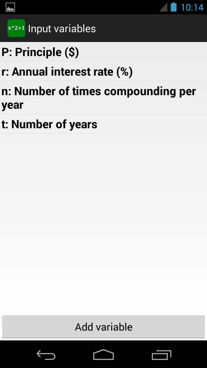 Custom Formulas Screenshot 1