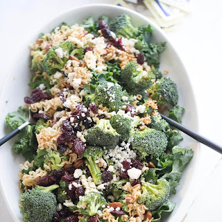 Ramen Broccoli and Kale Salad