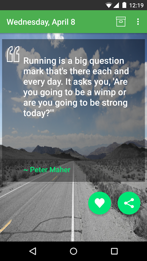 Daily Running Quotes- screenshot