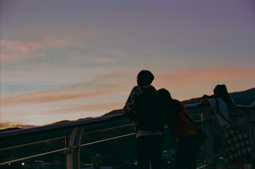 Young couple, sunset. Chiang Mai, Thailand. Jan 2019.