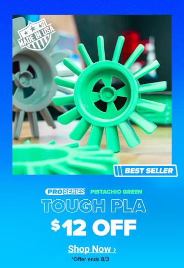 $12 Off Pistachio Green Tough PLA
