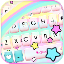 Cute Rainbow Stars Keyboard Background Download on Windows