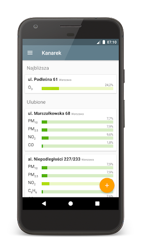 Kanarek - jakość powietrza Applications (apk) téléchargement gratuit pour Android/PC/Windows screenshot