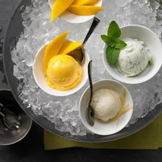 Mango, Mint and Lemon Ice Cream