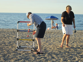 Photo: Anne and Nancy try their hand at Ladders.