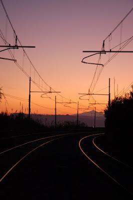 Binari al tramonto di sharon88