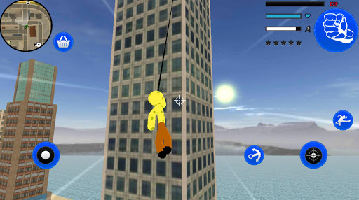 Sponge Stickman Rope Hero Vegas Gangstar Crime screenshot 2
