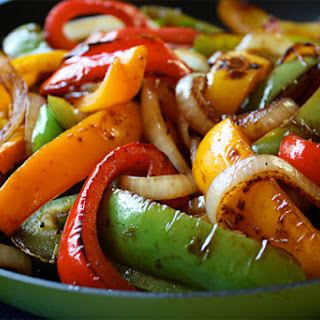 Quick Balsamic Peppers.