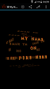 3D My Name On Fire Wallpaper screenshot 3