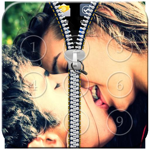 Romance Photo Zipper Lock