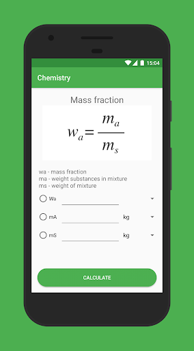 Chemistry app for Android screenshot