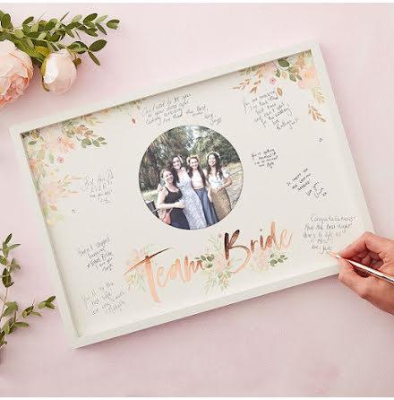 Gästboksram Team Bride - Floral Hen