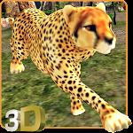 Angry Cheetah Attack Sim 3D Icon