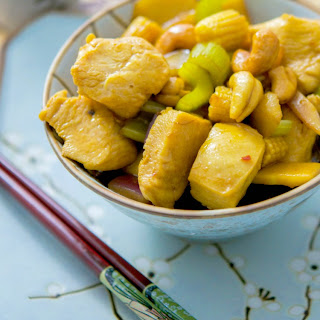Cashew Chicken with Sesame Ginger Sauce