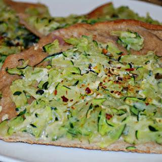 White Zucchini Pizza