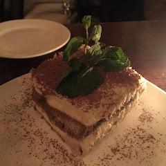 Tiramisu.  Layers of mascarpone cream and home made savoiardi biscuits