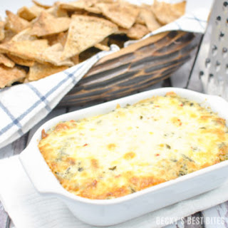 Cheesy Spinach Artichoke Dip with a Kick