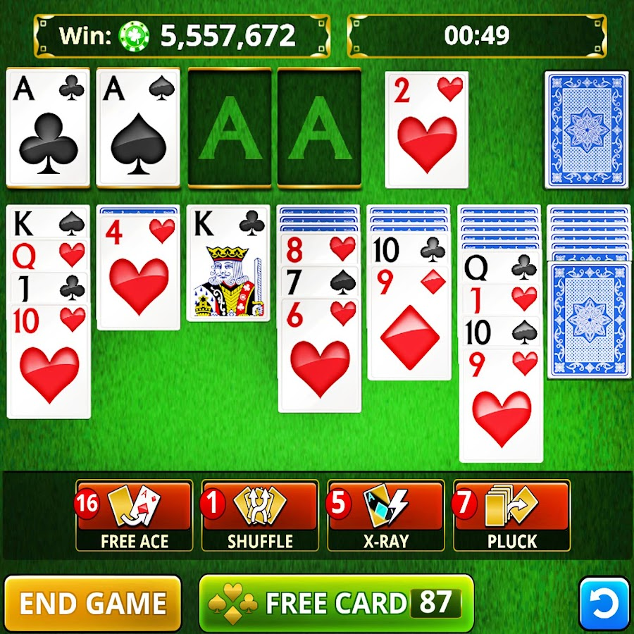 SOLITAIRE CARD GAMES FREE!- screenshot