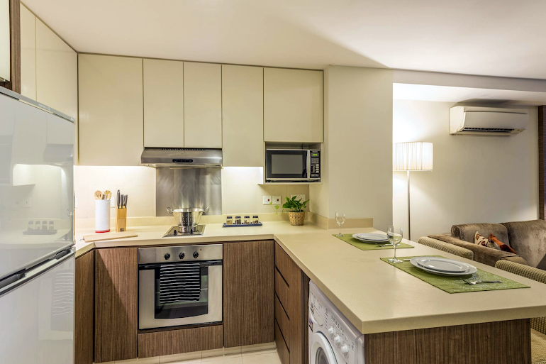 Equipped Kitchen at Somerset Liang Court. Robertson Quay