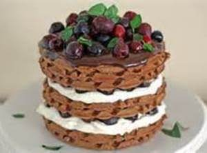 Chocolate Black Forest Waffle, Or Cake Recipe