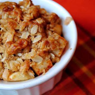Individual Toffee Apple Crisp