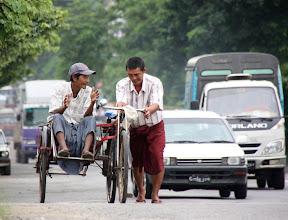 Photo: Year 2 Day 54 - Rickshaw Driver and Passenger