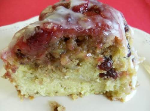 """Cranberry Lemon Crumble Cake """"I made this cake for ladies from our..."""