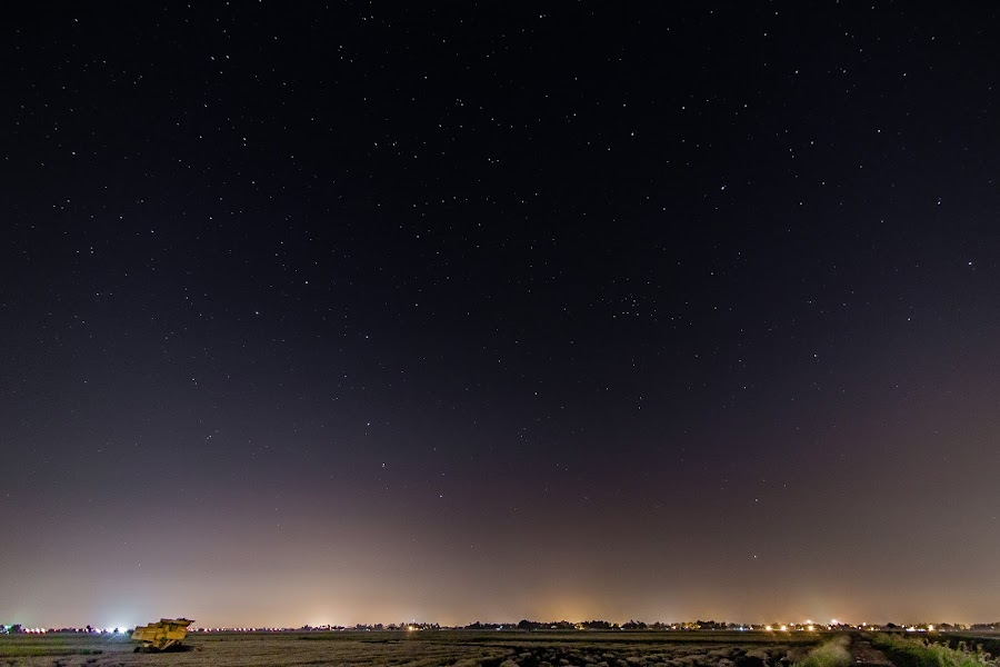 Peace. by Michael Tan - Landscapes Starscapes ( sky, paddyfields, stars, malaysia, harvester )