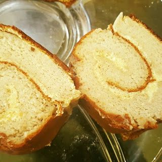 Sugar-free and Gluten free Banana swiss roll