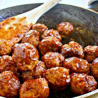 Skinny BBQ Turkey Meatballs & Mashed Potatoes.