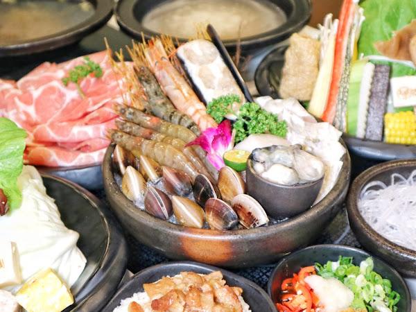 嗑肉石鍋-公益店。多種風味湯底自由配,還有大胃王肉盤喔