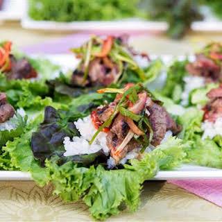 Korean BBQ Short Rib Lettuce Wraps.