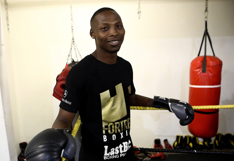 Former WBO bantamweight champion Zolani 'Last Born' Tete seen at his boxing gym in Mdantsane, Eastern Cape.