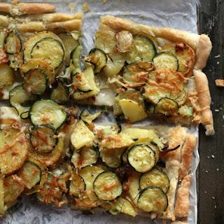 Potato, Zucchini & Dill Savory Tart