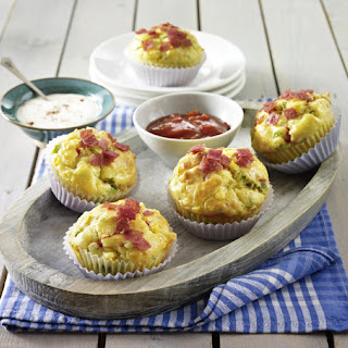 Savory Salami and Cheese Muffins.