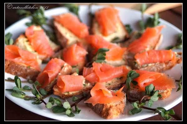 Smoked Salmon On Irish Soda Bread W/ Chive Butter